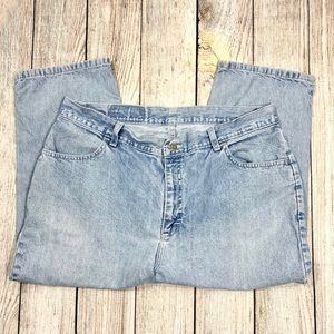 Vintage Jeans - Vintage Riders Blue High Waist Cropped Mom Jeans